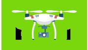 Image d'un drone volant dans le ciel